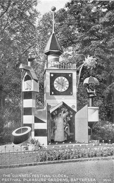 The Festival Of Britain Pleasure Gardens - Battersea Park - A London Inheritance Uk History, London History, Chessington Zoo, Old London, South London, London Life, West London, Essex Homes, Unusual Clocks