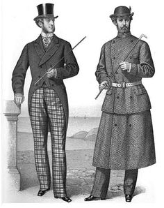 "Clothing for the ""sporting gentleman,"" from 'Gazette of Fashion, and Cutting-Room Companion', 1870."