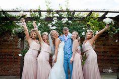 #bridesmaids #dustypink #bridesmaidsdresses #pinkgown #sequinsgowns #bridalhairinspiration #bridalhair #bridesmaidshair #hairdown #weddingday #bluesuit #groomsuit #bridalgown #pinkbouquet #bridesmaidsgang #bridaandbridesmaids #bridesmaidsportraits #essex #weddingphotographer