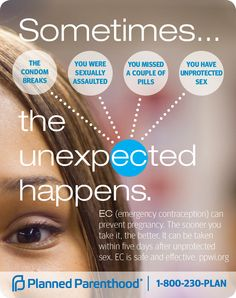Sometimes the unexpected happens. Emergency contraception can prevent pregnancy for up to 5 days after unprotected sex. This is NOT a regular type of birthday. Plan B is available over the counter. (CDC, 2014)