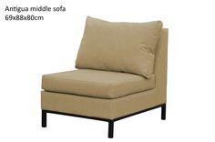 Antigua middle sofa - sand
