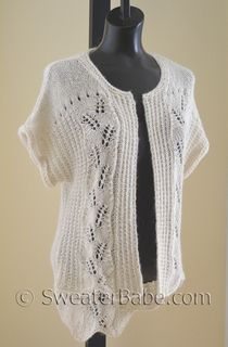 PDF Knitting Pattern for Tumbling Leaves Cardigan from SweaterBabe.com