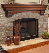 Fireplace Mantel - I searched for years to find this to hang over stone....