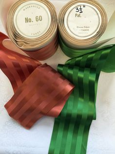 Vintage 3 1/2 Inches Wide. Satin Ribbon Mattes Striped Ribbon Rayon. Sold be the Yard. by AnafrezNotions on Etsy