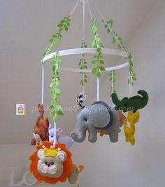 Mobile pour bébé Animaux  de la jungle