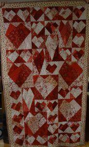 Paper pieced Valentine quilt