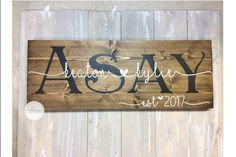 Wooden Wedding Sign Custom Name Sign Personalized Sign
