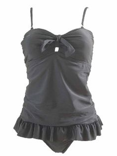 Mw Women`s Long Ruffle Tankini Top Bikini Bottoms Swimsuit Swimwear, Bra Straps, Multiple Prints $44.99