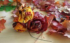 365 saker du kan slöjda » #506 Gör en ros av höstlöv