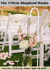 10 x 115cm White Wedding Party Garden Shepherd Hook Crook Lantern Flower Holder
