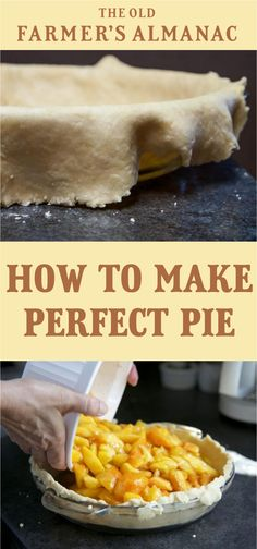 Here's advice on how to make pie the right way, including how to make pie crusts and fillings, as well as other great pie-making tips. Oil Pie Crust, Vegan Pie Crust, Cream Pie Recipes, Pie Crust Recipes, Quiche Recipes, Tart Recipes, Philadelphia Torte, Perfect Pie Crust, How To Make Pie