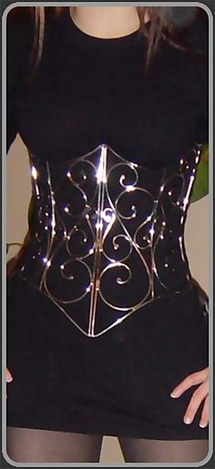 Swirl Pattern Corset (Stainless Wire) By Stefan Rogemoser For purchase info from artist: http://simplyartist.com/corset-swirl-wire.html