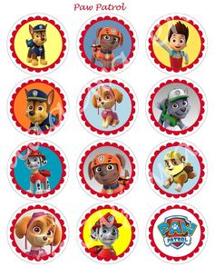 PAW PATROL Craft Circles   Dog and Puppy by vintagewarehouse, $2.50