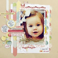 #papercraft #scrapbook #layout    Love You Madly *Teresa Collins Designs*