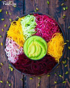 Tatatiana made this vegie vegie pinterest raw vegan recipes fullyraw rainbow veggie noodles with creamy avocado mango pistachio dressing new recipe video link in forumfinder Images