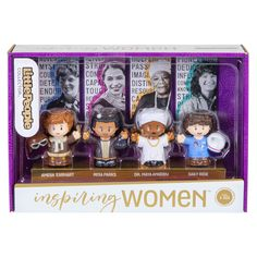 We love finding some of our favorite inspiring women in toy form! The Little People Inspiring Women set is great for kids -- or adults who could use a little inspiration on their desks or nightstands. #toys #feminist #history #giftsforwomen Toddler Toys, Kids Toys, Cool Mom Picks, Friend Birthday Gifts, Maya Angelou, A Christmas Story, Funny Cards, Toys For Girls, Fisher Price