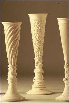 pottery vase; pottery flute