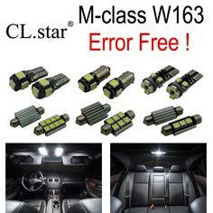 12pcs Error Free LED Bulb Interior Light Kit For Mercedes For Mercedes-Benz M class W163 ML320 ML350 ML430 ML500 ML55 AMG 98-05