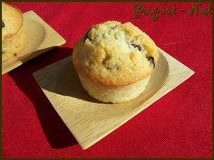 muffins au lait de coco et pepites de chocolat (coconut milk and chocolate chips muffins)