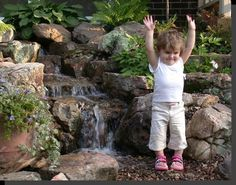 water feature for kids | Pondless® Waterfall is often the perfect water feature for front ...