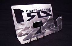 C6 ZR1 Corvette Metal Business Card Holder