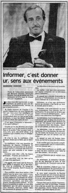 Bernard Derome reçoit un Gémeaux hommage. (La Presse, 1992)
