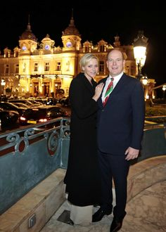 Prince Albert and Princess Charlene attended a charity gala organised by the Monaco Wales Association in Monte Carlo  March 2013
