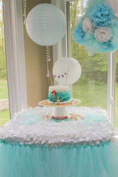 Ariel birthday cake     (I made the cake. The amazing design setup and photo taken by client)
