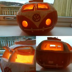 Pumpkin Volswagen T1 with window safari ;)
