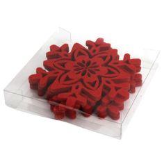 Party Partners Design Laser Cut Felt Snowflake Coasters…