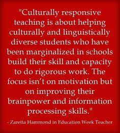 'Culturally Responsive Teaching': An Interview With Zaretta Hammond