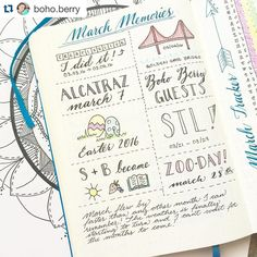 #Repost @boho.berry with @repostapp. ・・・ I just love welcoming a new month with a bit of reflection in my #BulletJournal!  I had a bit of empty space at the bottom of my monthly memories spread this month so I decided a bit of journaling was in order.  What great memories did YOU make in March? Are you as excited for April as I am?