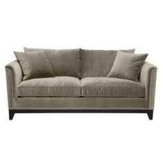 Like that this sofa has a high back and love the soft fabric and nailhead trim. Pauline Sofa from Z Gallerie. $1299
