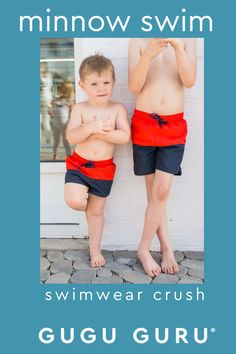 Minnow swim is Gugu Guru's bathing suit style crush! When we stumbled across minnow swim's beyond adorable swimwear line, we knew we had to share it with you! Made and designed in California, minnow swim is a contemporary children's swimwear label that embraces clean lines, simple details and crisp seaside breezes. Cute Baby Boy Outfits, Baby Must Haves, Gender Neutral Baby, Baby Boy Fashion, Summer Baby, Childcare, Clean Lines, Seaside, Things That Bounce