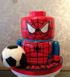 Spiderman Lego cake
