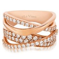 LeVian 1.16CTW Vanilla Diamond Ring in 14K Strawberry Gold