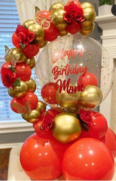 Balloon Crafts, Birthday Balloon Decorations, Balloon Gift, Birthday Balloons, Balloon Columns, Balloon Arch, Balloon Garland, Balloon Arrangements, Balloon Centerpieces