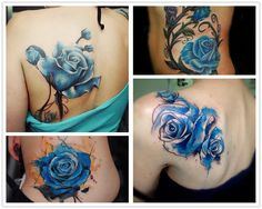 2014 Christmas Will you try these delicate rose watercolor tattoo for date ♥ ♥ - Fashion Blog