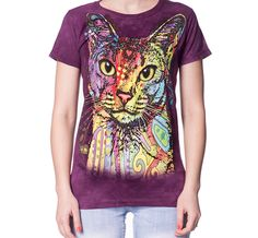 The Mountain Abyssinian Women's T-Shirt Frontside - Size Small Pictured 3d T Shirts, T Shirts For Women, Big Face, Classic T Shirts, Tees, Lady, Mens Tops, Cotton, Abyssinian Cat