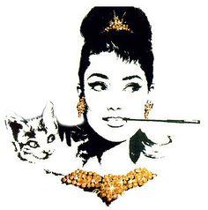 Audrey hepburn cigarette holder and pop art on pinterest - Cuadros audrey hepburn ...