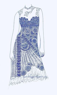 My crochet wedding dress, the plan