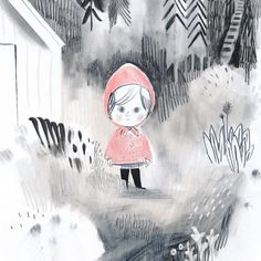 Isabelle Arsenault Isabelle, Red Riding Hood, Little Red, Fairy Tales, Illustration Art, Snoopy, Photo And Video, Pets, Instagram