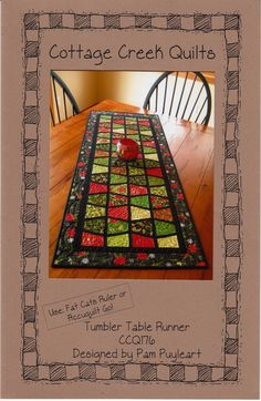 Tumbler Table Runner By Puyleart, Pam - 20in x 51in