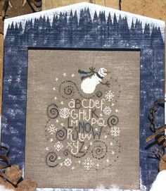 Snow cross stitch pattern by Bent Creek by TheCrossIBare on Etsy, $5.00