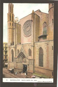 Postales antiguas de Barcelona. SANTA MARIA DEL MAR. (11. Samsot y Missé Hs). Sin dividir.