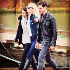 Henry, Emma and Killian