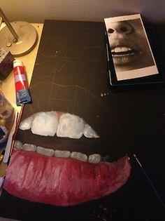 nudelyps: alt-j: I think im done with the bottom lip? im likin it… Art Sketches, Art Drawings, Portrait Sketches, Rik Lee, A Level Art Sketchbook, Art Hoe, Ap Art, Art Portfolio, Oeuvre D'art