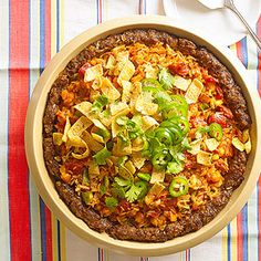 Deep-Dish Mexican Meat Loaf Pie From Better Homes and Gardens, ideas and improvement projects for your home and garden plus recipes and entertaining ideas.