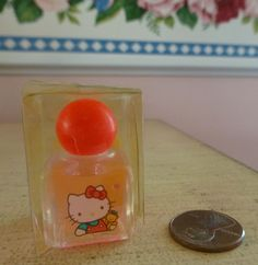 NEW Full NIB VTG 1989 Sanrio FREESIA Hello Kitty Perfume 0.12 Oz. 4ml Miniature #Sanrio