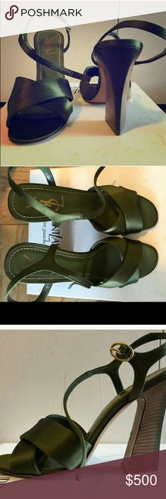 Yves Saint Laurent satin heels Gourgeous never used size is 9 fits 8.5 Yves Saint Laurent Shoes